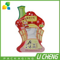 China supplier wholesale heat seal shaped bag for snack