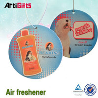 Customized design football car paper air freshener