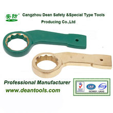 flexible safety hand tool anti spark slugging bent box wrench