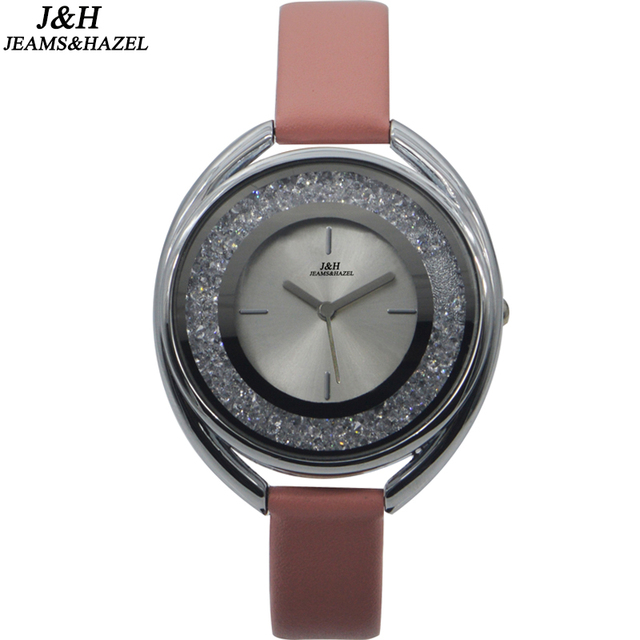 Chinese luxury diamond lady watch fashion ladies watch leather wristwatch business bracelet watches