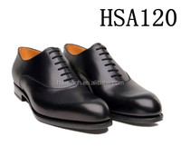 genuine cow leather lace up formal style men dress shoes with point toe