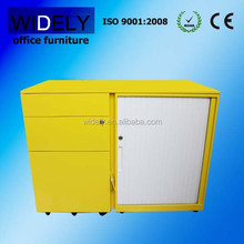 Durable and glazed white rolling door metal file cabinet for office furniture