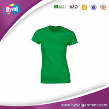 Online shopping wholesale solid color women tee shirt