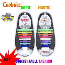Coolnice Leading Promotional Gift Factory Flat Lazy No Tie Silicone Shoelace