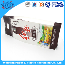 Heat selaed sie gusset white paper bag for powder packaging bag
