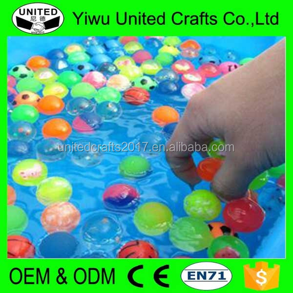 2017 hot sales china zhejiang yiwu skip toy flashing hi bouncing ball with light