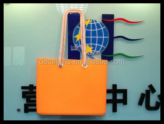 China 2014 spring summer hot selling candy silicone bag manufacturers custom silicon beach bag with waterproof