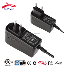 Level VI plug charger 17v 1a with UL/CUL GS CE SAA FCC ROHS,2years warranty