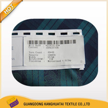 high quality 40*40 100% cotton yarn dyed printing wholesale