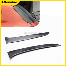 Custom real carbon fiber rear window fin aprons back door splitters trims for BMW 1 series F20