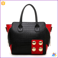 XH19633 new fashion fodable leather handbags / leather bags women tote / leather satchel bag
