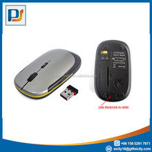 Free Sample! Nano 2.4G Wireless Optical Flat Mouse with DPI Switch (Black)