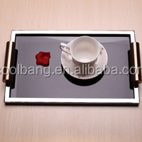 silver plated rectangular tray serving tray with handles stainless steel serving tray decorative
