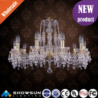 SHOWSUN lighting new product bohemia style raindrops decoration crystal chandelier