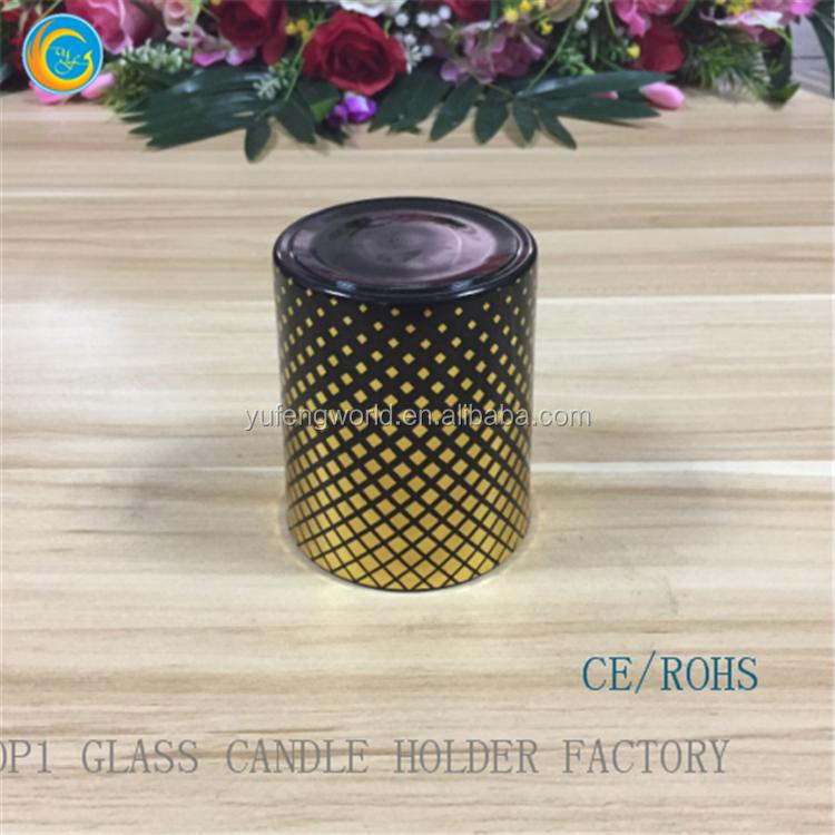 creativa cristal soporte de la vela titular de vela de cristal