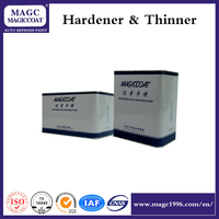 Epoxy resin and high concentration varnish hardener for paint