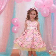 Export fancy kids evening dresses puffy dresses for kids bridesmaid dresses