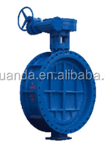 Flange end cast iron ductile iron gg25/ggg40 double eccentric butterfly valve/D343X-10/16
