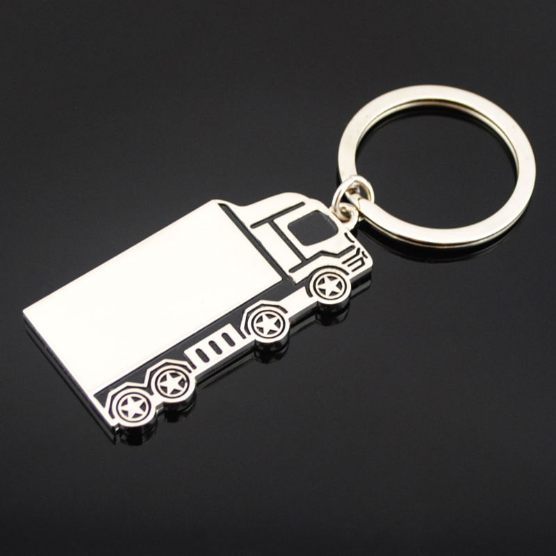 Custom truck metal key chain for promotion
