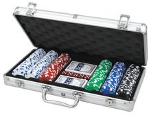 Professional 300pcs Poker With Aluminum Case Gaming Chip Set