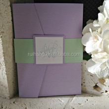 Mint and Lavender Mon Amour Wedding Invitation Pocket Suite
