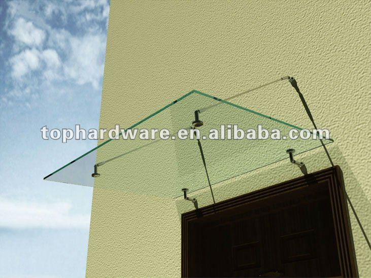 glass Awning for rain, glass canopy,wooden door canopies