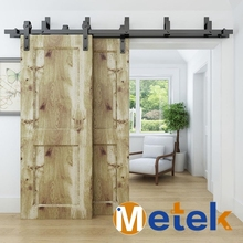 Bypass style hot sale interior sliding barn door hardware double track