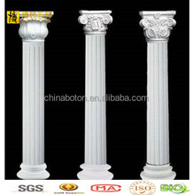 Marble Statue Carved Pillar Design, White Stone Statue Pillar