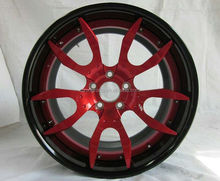 Wholesale Factory price Aluminum Alloy White Car Wheel Rims, OEM Design 3 Piece Forged Wheel