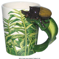 Wholesale Horned Beetle with Decal Shaped Handle beer Mug
