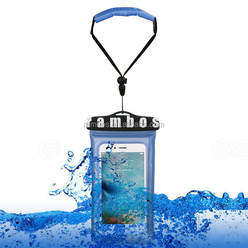Universal Water Proof Cell Phone Case Bag Pouch Floating Wrist Strap IPX8 Underwater Swimming Cases for Samsung Galaxy S7