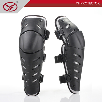 PE shell Mesh fabric motorcycle knee guard