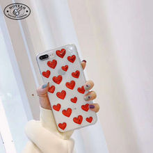 Heart Shape Transparent Soft TPU Cell Phone Case for iphone Case