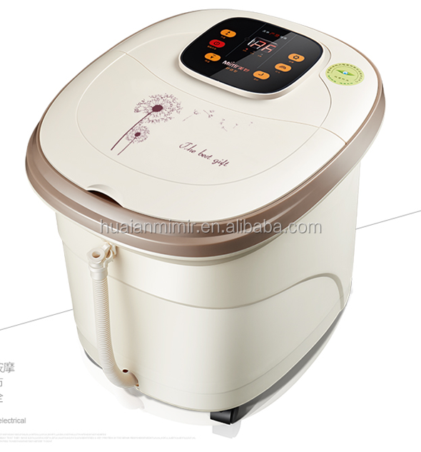 All in one foot spa bath massager w/ heat, O2 bubbles, red light massage machine MM-8819 series
