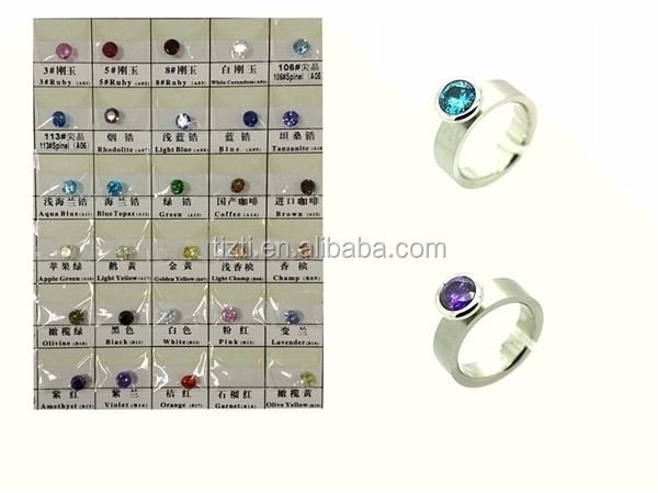 Inox Jewelry , Stainless Steel Interchangeable Color Gem Ring