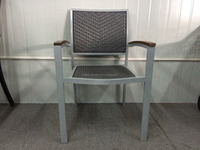 Outdoor aluminium stackable restaurant chair with rattan seat & back aluminum rattan chair
