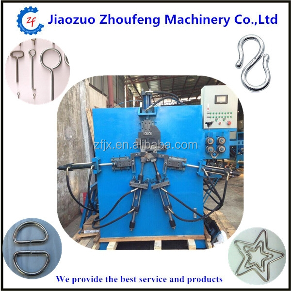 Metal button wire rebar buckle handle forming making machine