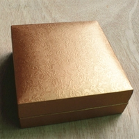 Gold Leatherette Paper Packaging Gift Box for Jewelry