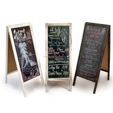 small wooden school/resturant menu advertising writing chalk blackboard