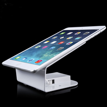 Desktop Metal Retail Display Holder Exhibition <strong>Security</strong> Anti Theft Tablet Stand with Alarm Sensor