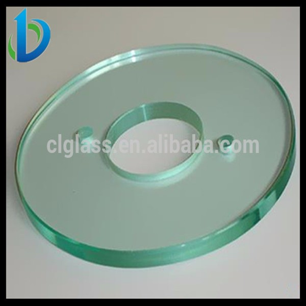 High strength tempered cover glass for machine