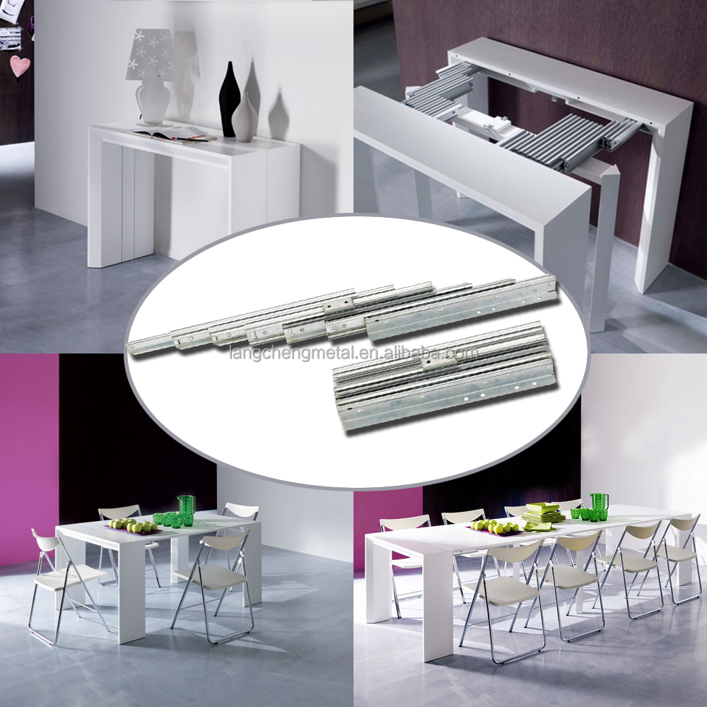 Steel standard Pull-out slides for extension console table
