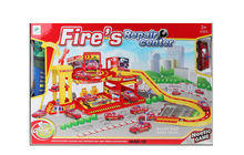 best gift new parking set alloy learning toy yellow fire engine with EN71