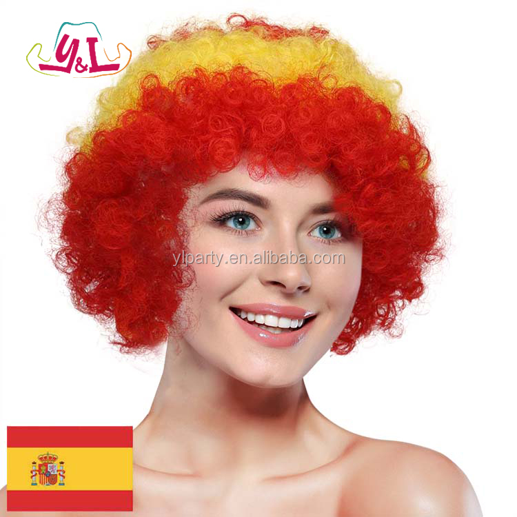 Spain Souvenirs Football Fan Items Afro Wig Factory Under $5