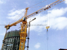 chip style flat top QTZ80 TC6010-8 construction tower crane