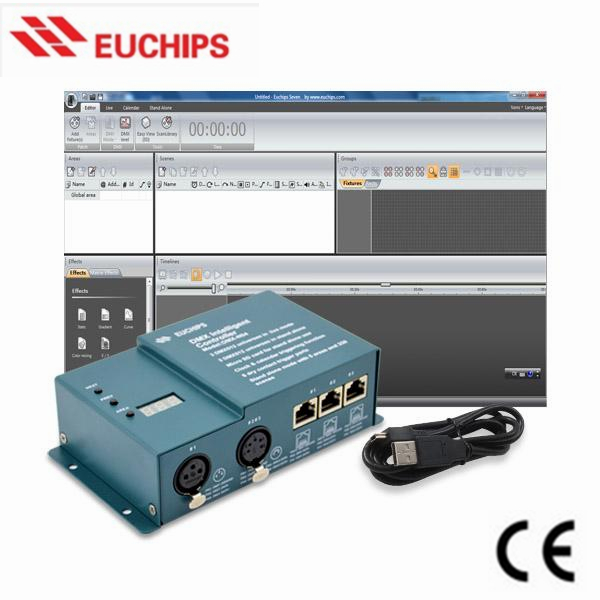 3 DMX512 Universes Master Controller with IR Remote