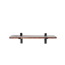 Wood wall mounted shelf stylish floating wall shelf with metal bracket