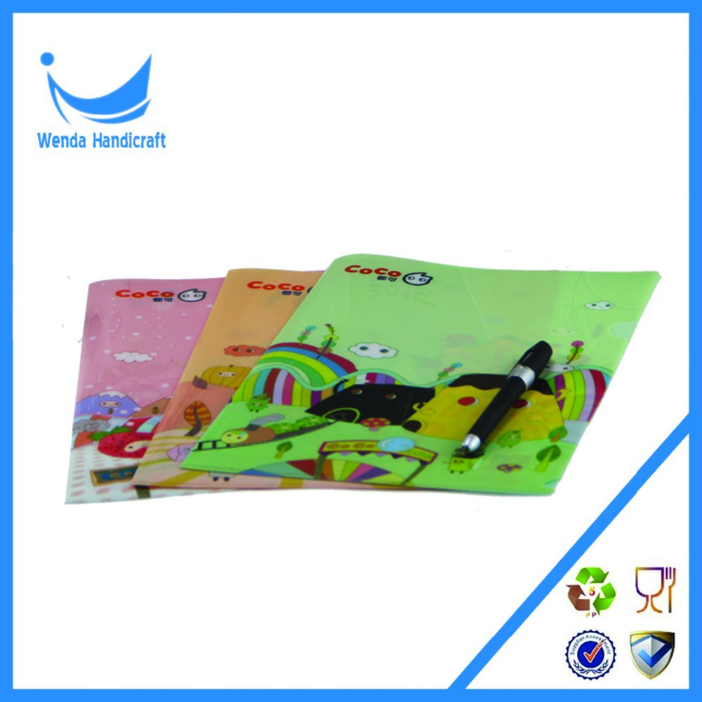 Picture printed hotsell pp plastic document file folder