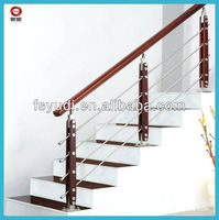 stainless steel wood baluster/railing banisters/railing baluster