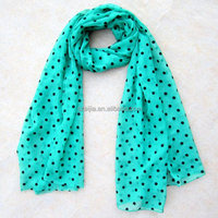 Fashion Women 100 Polyester Dot Pattern